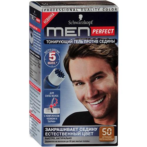 Schwarzkopf MEN PERFECT 50 Тонирующий гель для мужчин Светло-каштановый 50 80мл