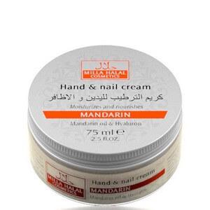 Крем увлажняющий с маслом мандарина, гиалуроном и пчелиным воском для рук и ногтей, 75 мл (Halal' Сosmetics)